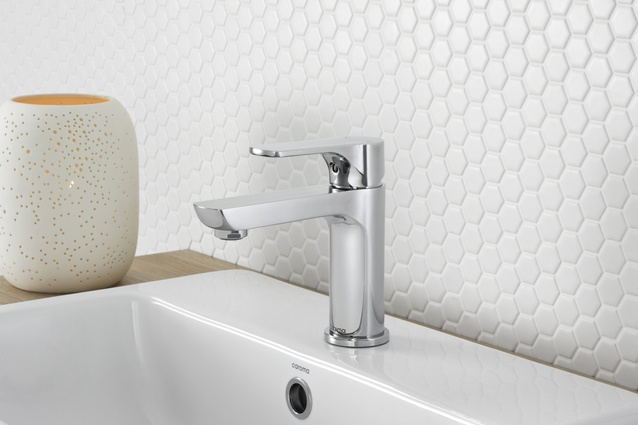 Mixers and accessories have been added to Caroma's Urbane collection.