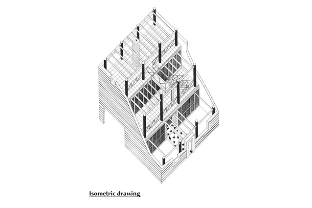 Isometric drawing of Crigan house by Allan Powell Architects.