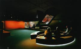 The Screen Gallery, a large flexible space on the lower ground level. Image: John Gollings.