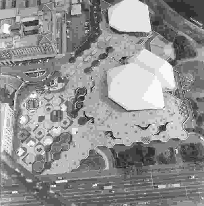 Aerial view of Adelaide Festival Centre (1965–80).