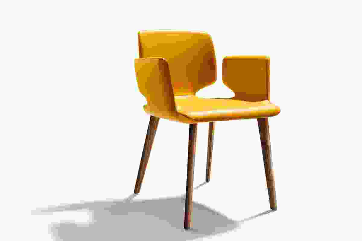 "The Aye chair ""looks as though it could have been designed by Arne Jacobsen."""