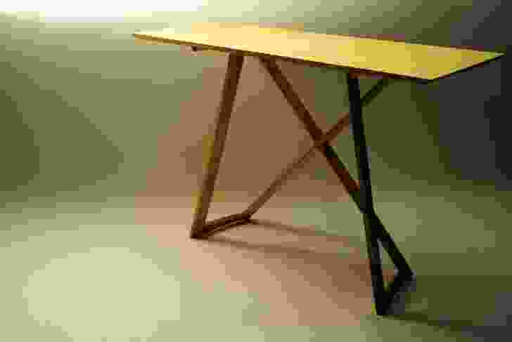 The Stretch desk allows the buyer to put the pieces together without tools or glue.