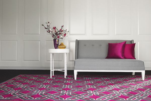 The Oxford rug, one of the most colourful in the collection.