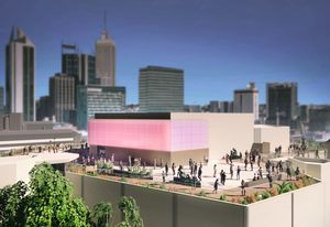 Rooftop development at the Art Gallery of WA by TAG Architects and FJMT.