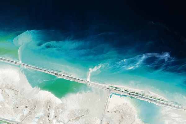 On Mischief Reef in the Spratly Islands, 5,580,000 square metres of land has been reclaimed so far in 2015, according to the Asia Maritime Transparency Initiative.