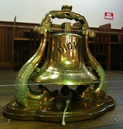 A ship's bell at the Mission to Seafarers.