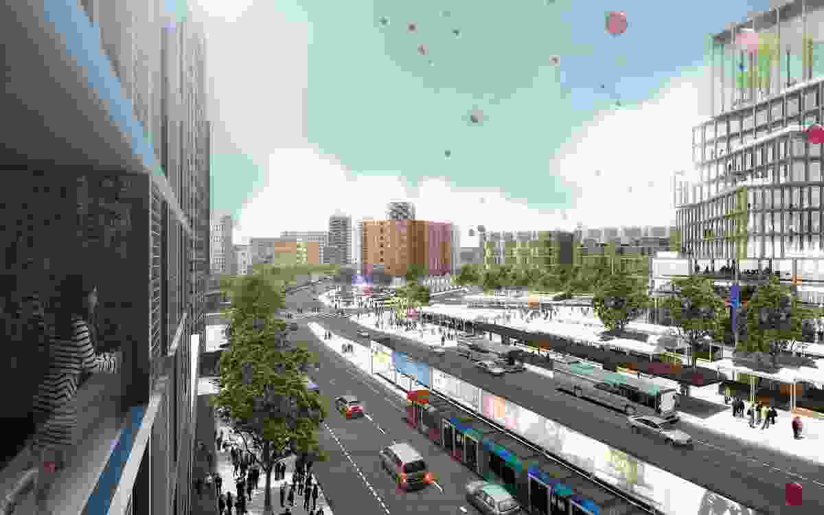 K2K proposal – Kingsford Exchange by JBA Urban Design and Planning, Stewart Hollenstein Architecture and Urban Design, Arcadia Landscape and Natural Systems, The Transport Planning People and Jess Scully.