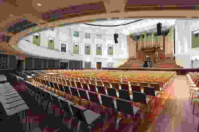 The main auditorium features a restored Henry Willis and Sons organ.