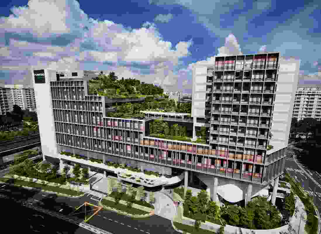 Kampung Admiralty by WOHA.