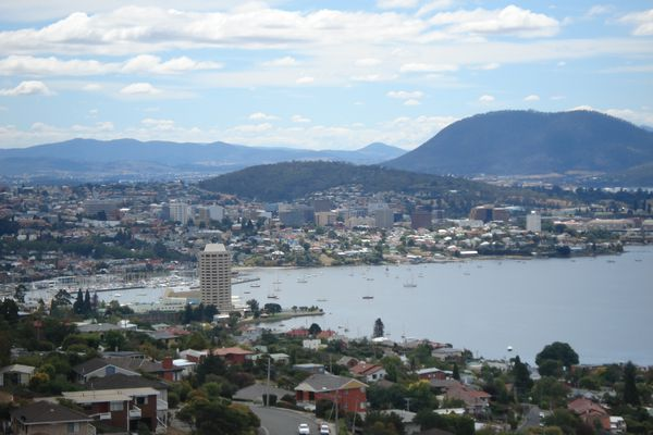 Hobart CBD.