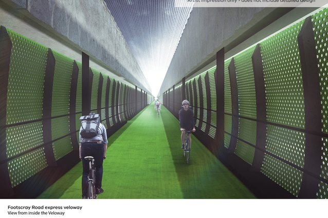 The 2.4km-long veloway will provide a quick route for cyclists traveling to the CBD from Melbourne's west.