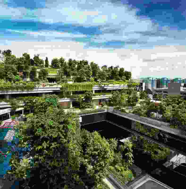 Woha's Kampung Admiralty incorporates amenities that serve both the residents and the local community.