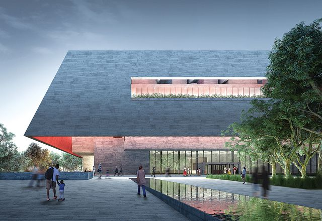 Proposal by Adjaye Associates and BVN with McGregor Coxall, Steensen Varming, Plan A Consultants, Barbara Flynn, Yvonne Koolmatrie, Aurecon Group and Front Inc.