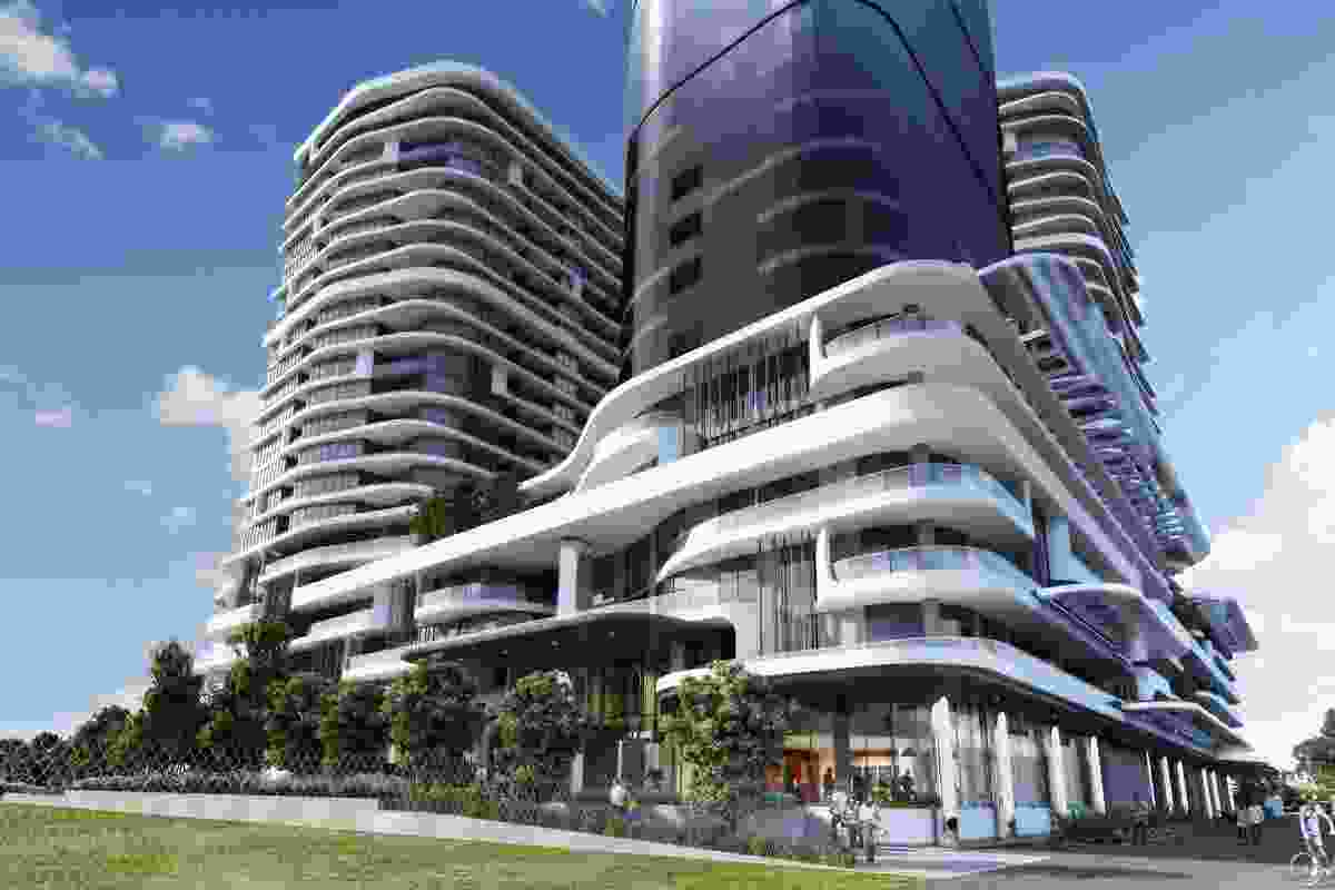 The $400m Rothelowman project at Fishermans Bend that has been approved by planning minister Richard Wynne.