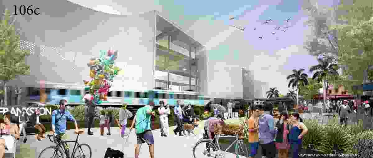 Proposal for the new Frankston railway station by Genton.