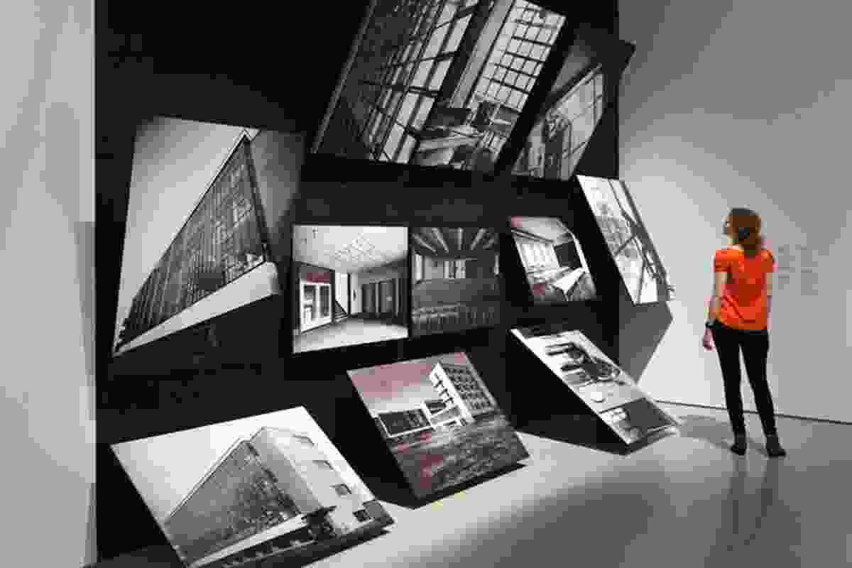 Photographs of the Bauhaus building at Dessau.