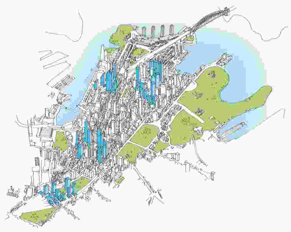 Tower clusters in the City of Sydney's Central Sydney Planning Strategy.