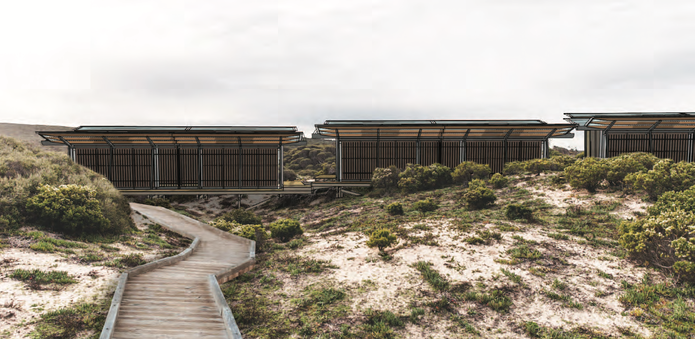 Kangaroo Island lodges designed by Troppo Architects.