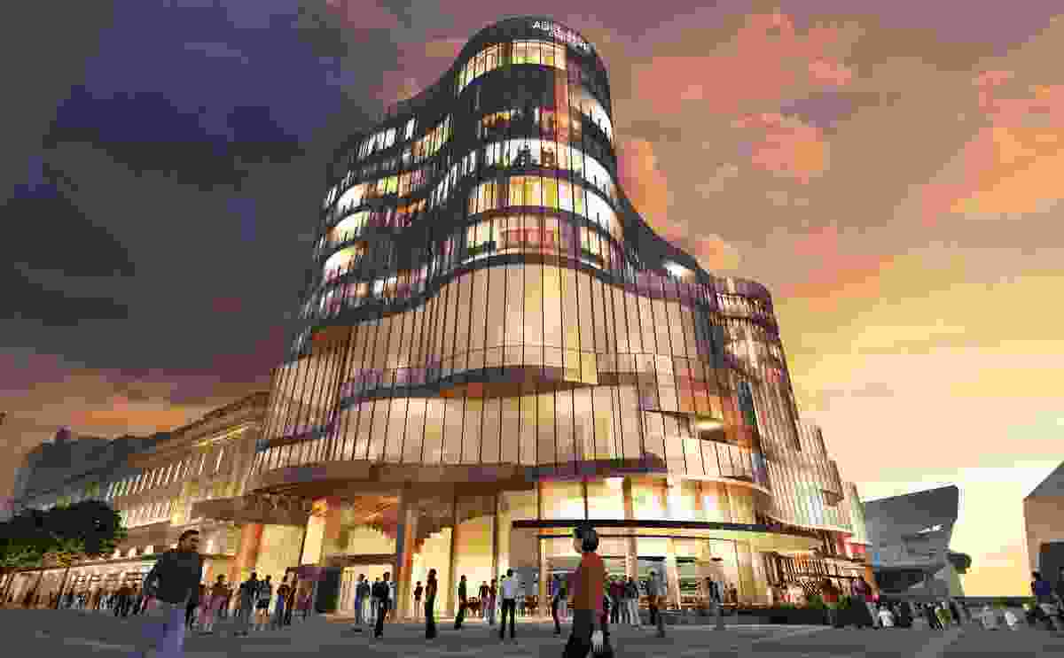 Artist's visualization of the Adelaide Casino expansion.