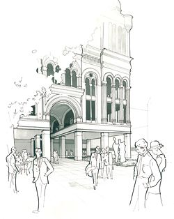 Queen Victoria Building forecourt proposal, final-year project from the UNSW Molnar Studio.
