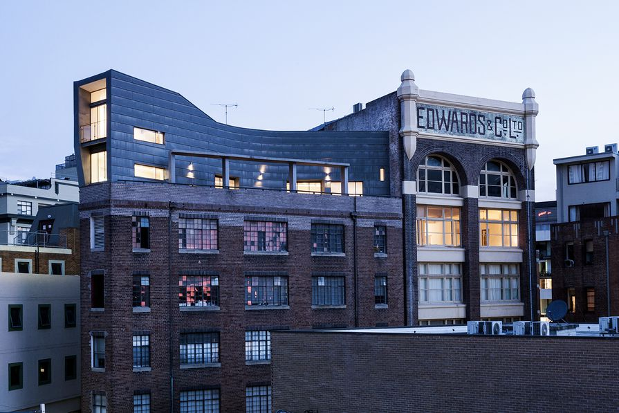 Foundation launch venue: the rooftop Droga Apartment in Surry Hills, by Durbach Block.
