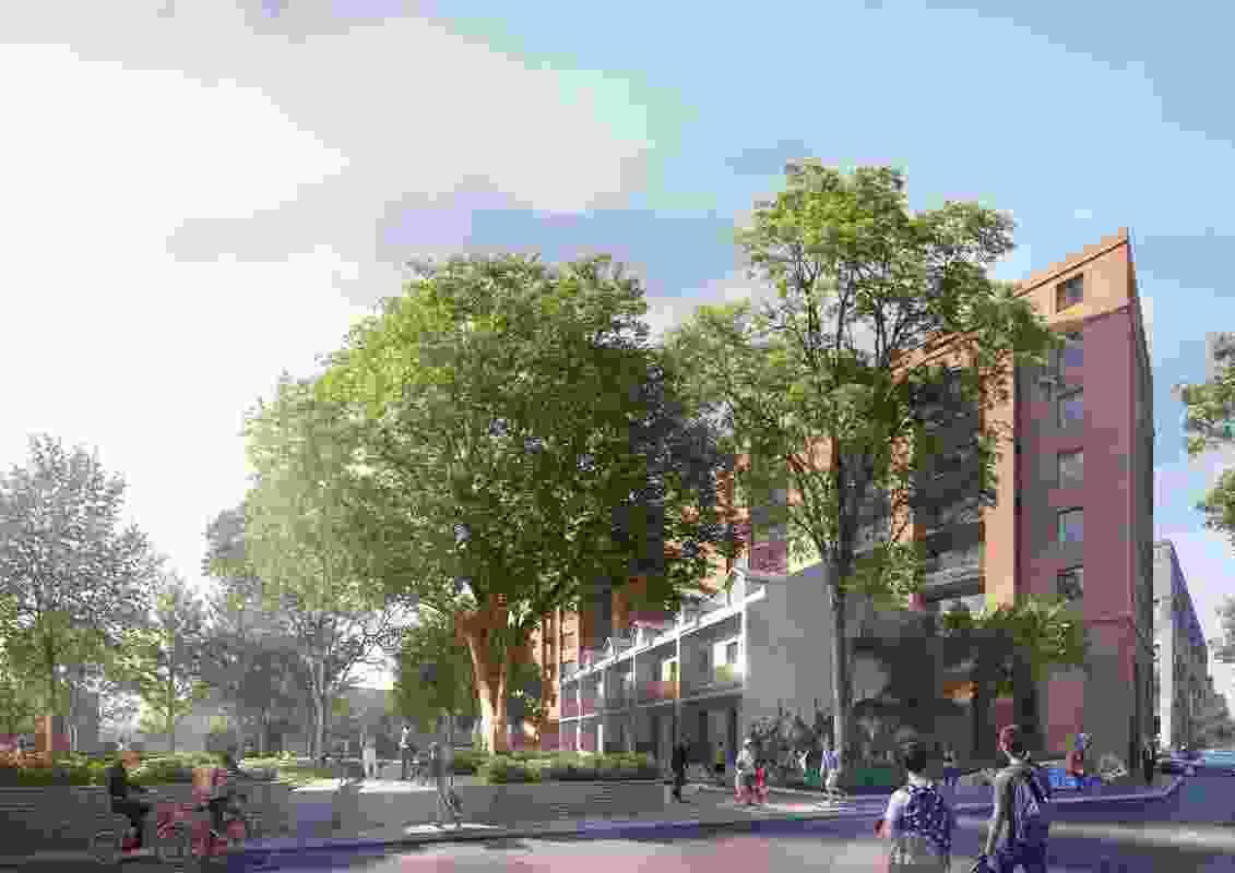 17-31 Cowper Street and 2A-2D Wentworth Park Road, Glebe, designed by Johnson Pilton Walker.