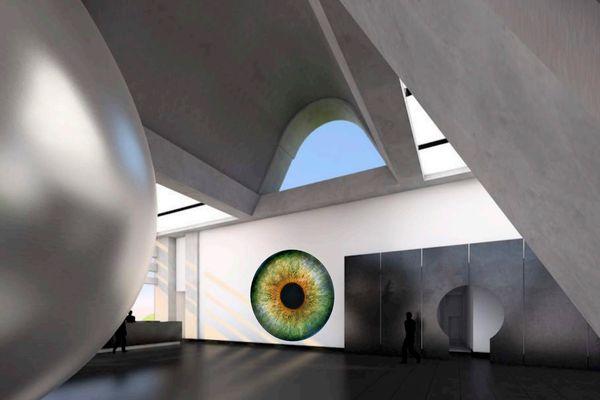 Colliding Universes in Saint Peter's Four Meter Woollen Eye by Arturo Muela, Paola Ibarra and Daniela Gutiérrez.