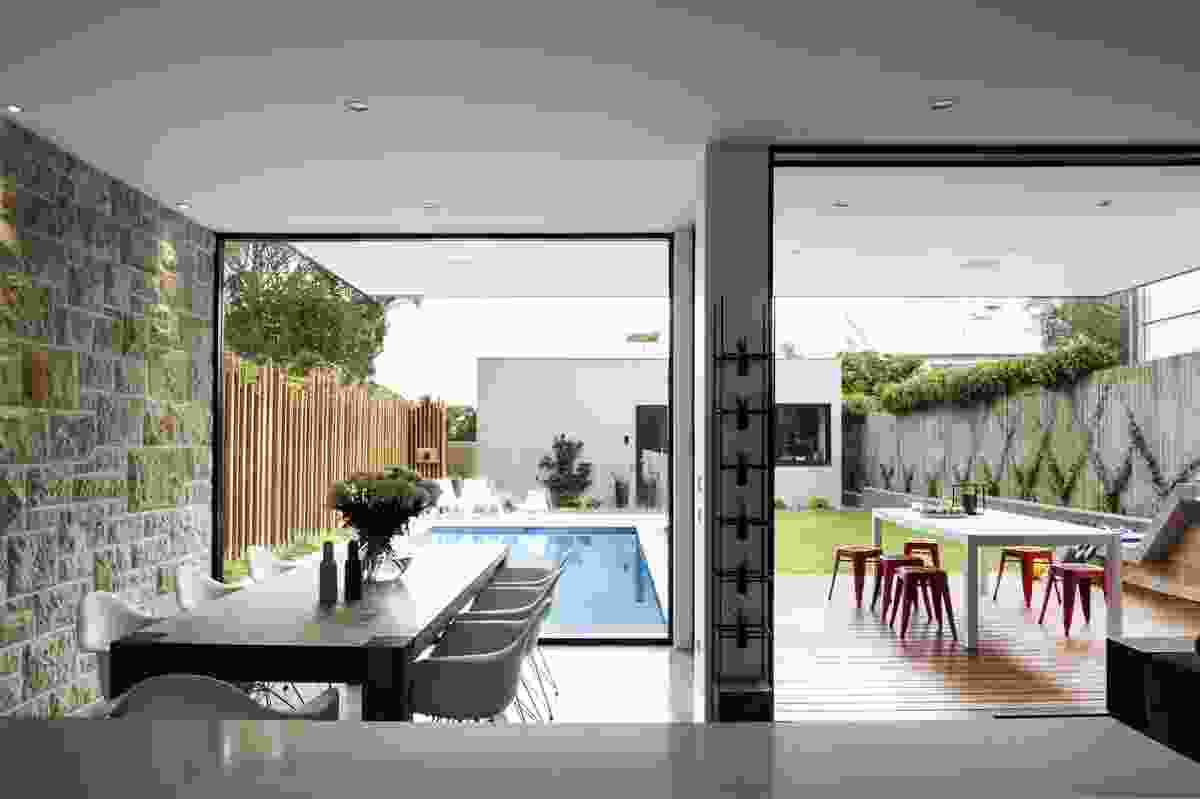 Designed by Kane Harrison, this house in Drummoyne, Sydney features Axon Cladding.