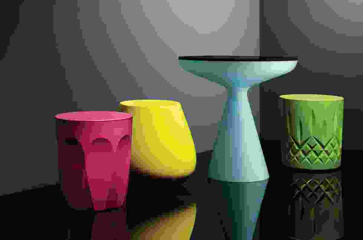 The Glass Collection is made from recyclable polyethylene and was inspired by the elegant forms of drinking glasses.