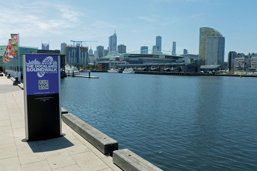 A stop on the Docklands SoundWalk in Melbourne.