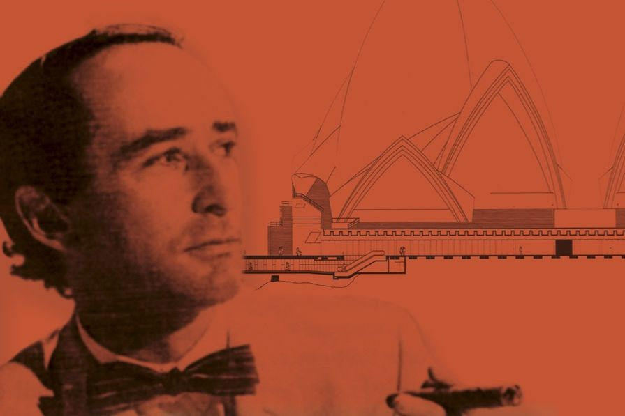 Peter Hall, as depicted on the cover of Peter Hall Architect: The Phantom of the Opera House by Peter Webber.