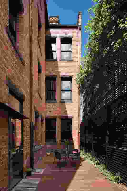 The narrower secondary block allows room for a courtyard.