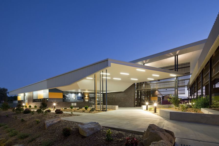 Faith Lutheran College Library (Toowoomba) by Fulton Trotter Architects.