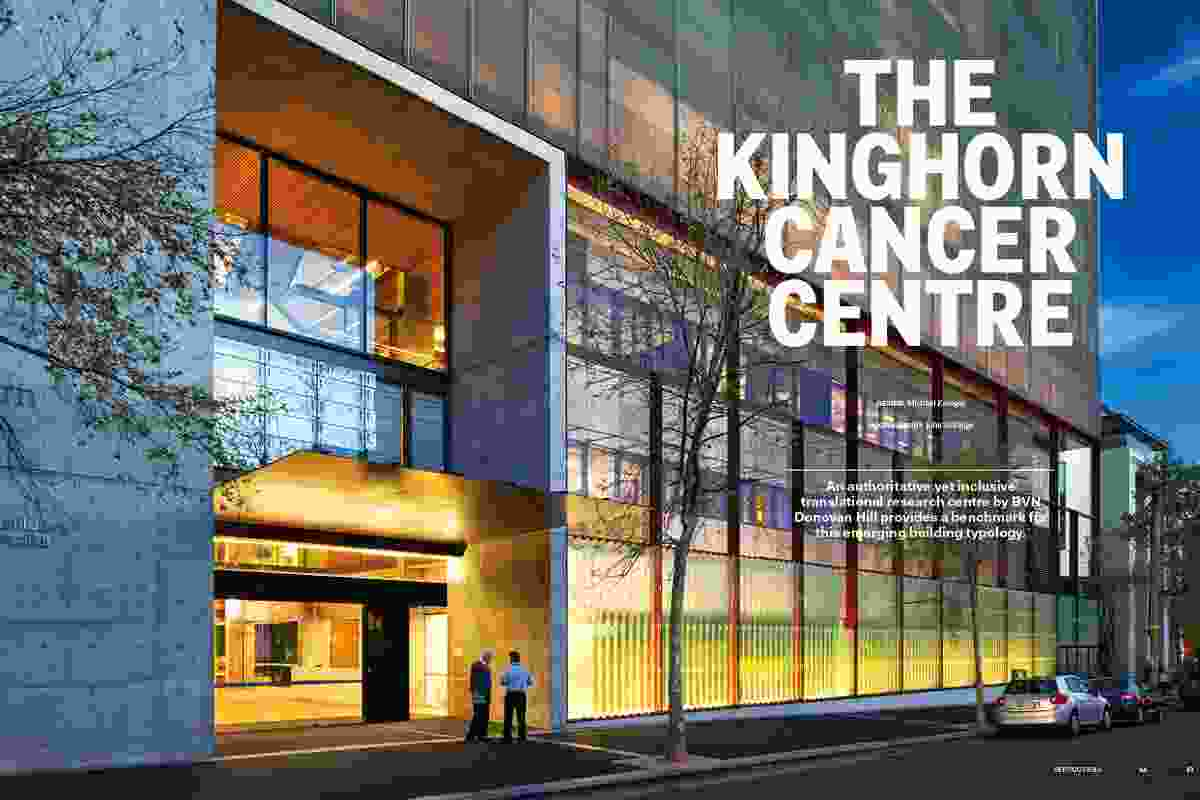 The Kinghorn Cancer Centre by BVN Donovan Hill.