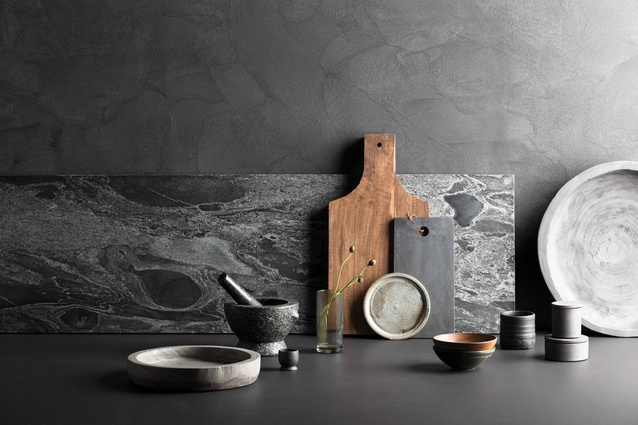 Colours in the Contribute theme include wood tones, dark greys, deep browns and mid-tone neutrals.