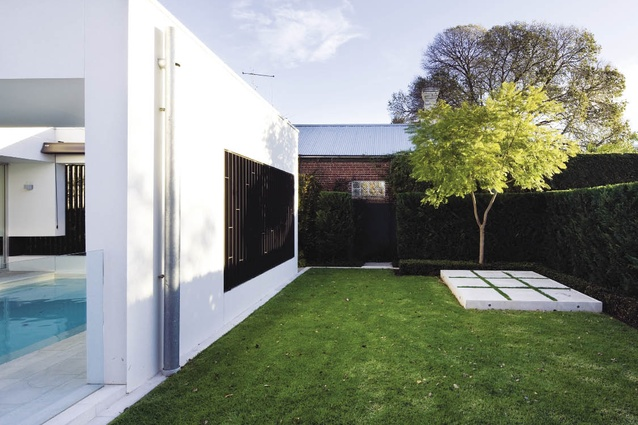The architecture and landscape architecture together create a series of intriguing spaces.