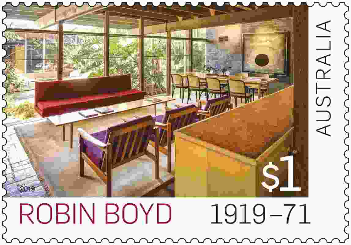 Australia Post's commemorative Robin Boyd stamp.
