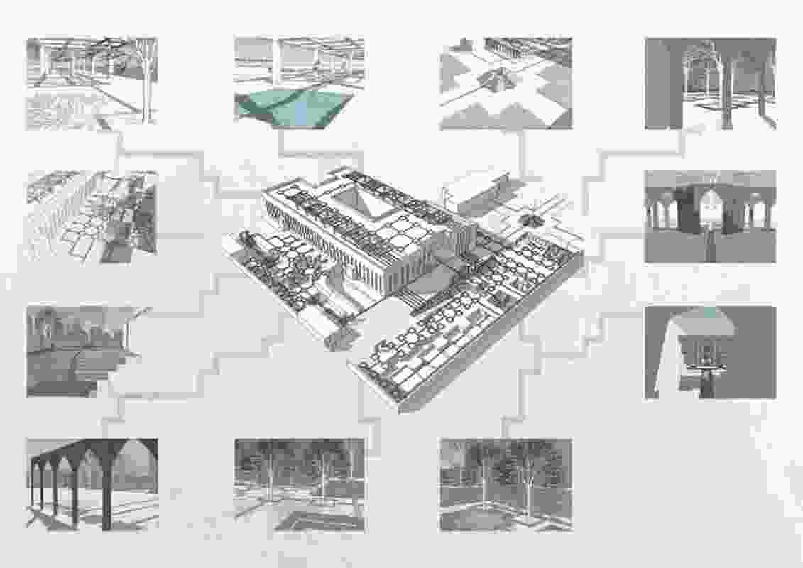 Perspective view of Duyen Nguyen's design.