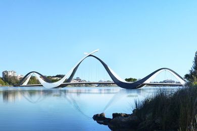 Swan River Pedestrian Footbridge by Denton Corker Marshall and Parry and Rosenthal Architects.