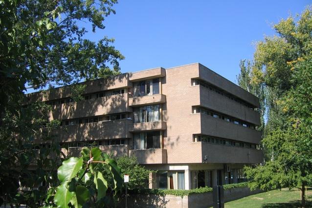 Burgmann College (1971) by Dirk Bolt & Associates.