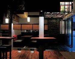 The warm, rich interior of 3 Below bar.