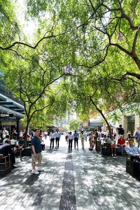 Pitt Street Mall Public Domain Upgrade by Tony Caro Architecture.