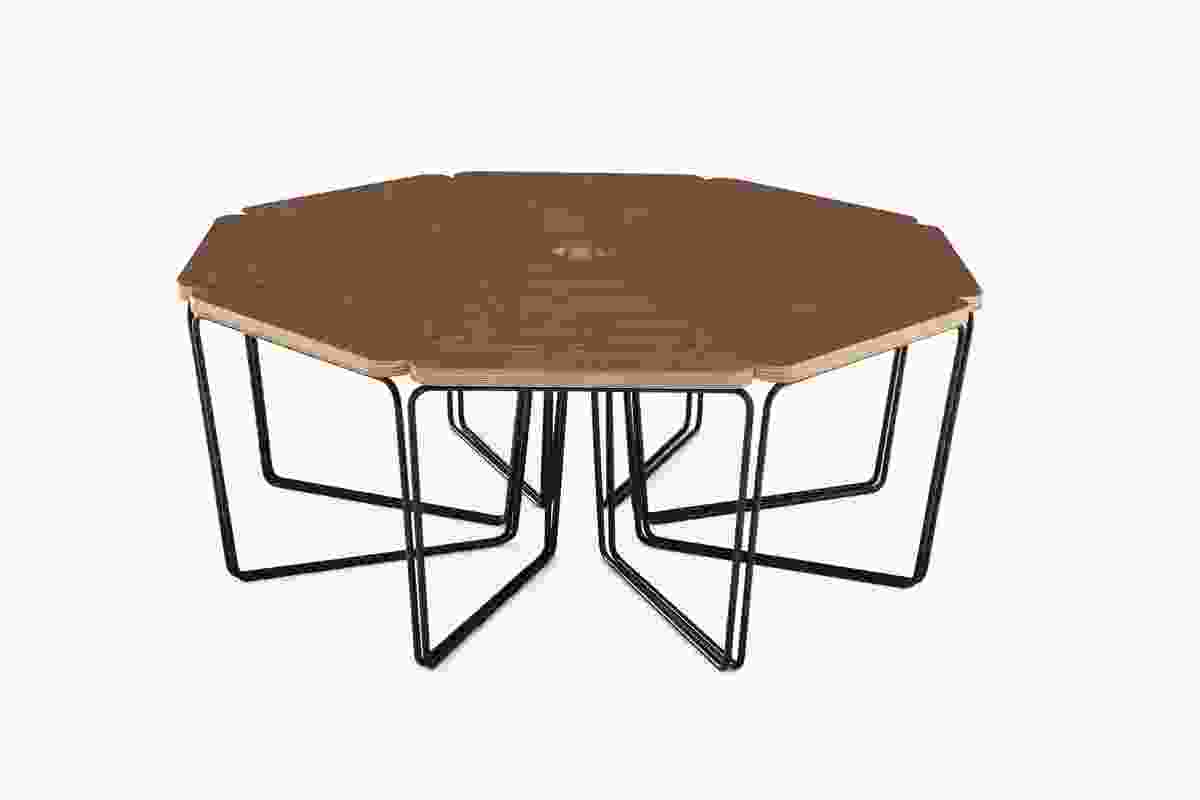 Fractal table in walnut top from DesignByThem.