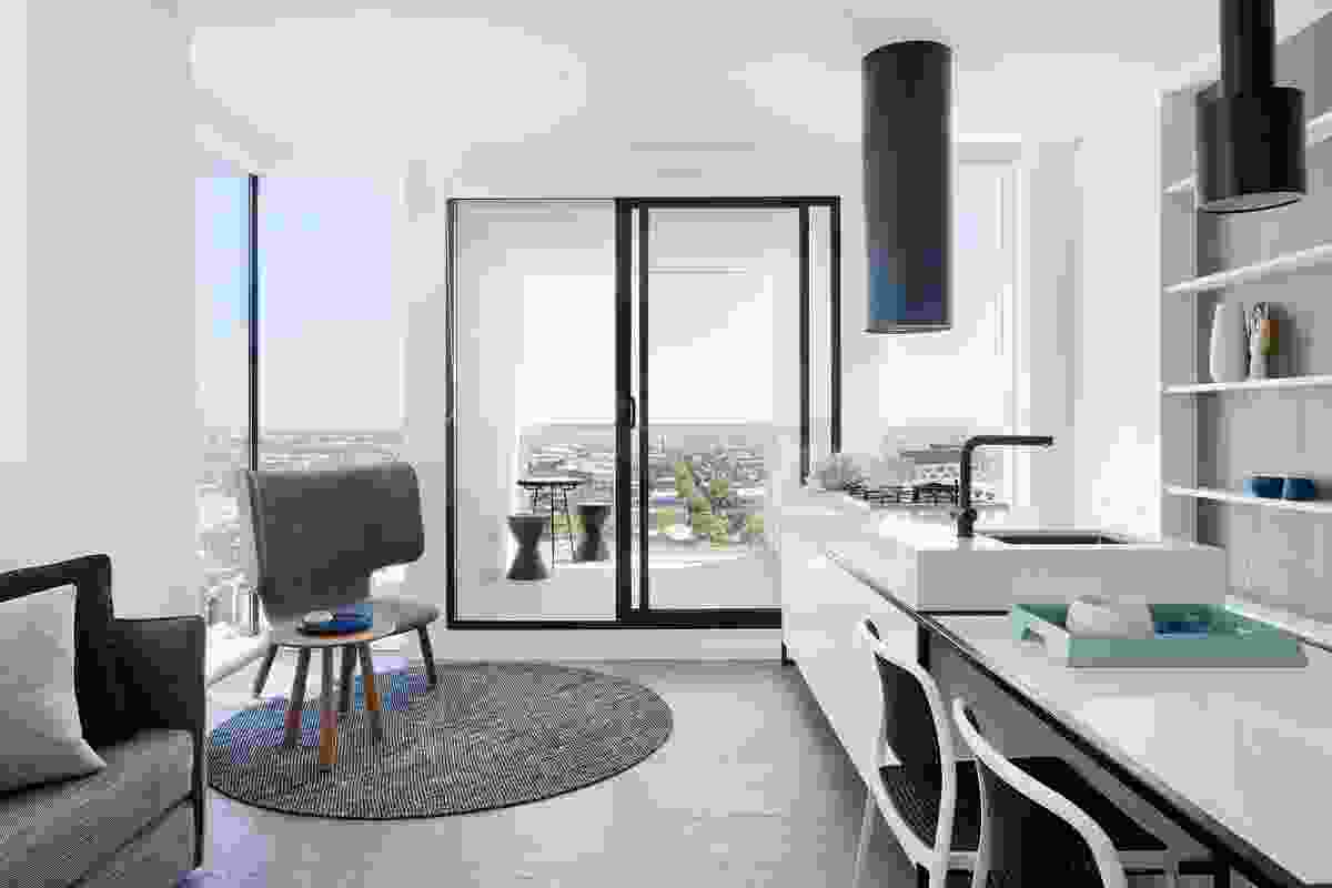 Though the floor areas are smaller than the standards recently recommended by the OVGA, the compact apartments have plentiful access to natural light and ventilation, and visual aspect.