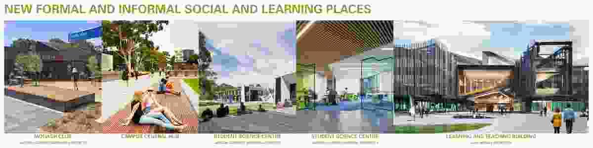 Monash University Clayton Campus Masterplan by MGS Architect and Masterplanners, Monash University and Monash University Design Consultancy.