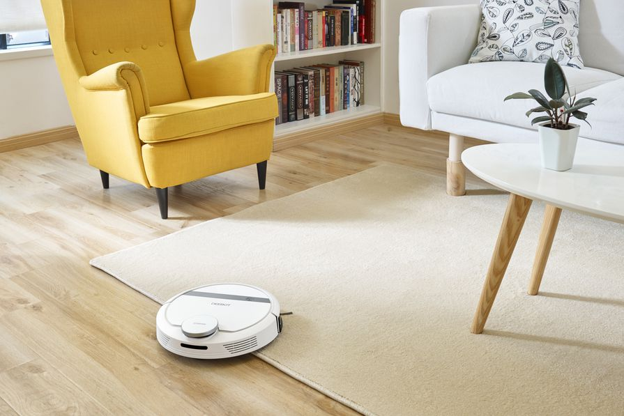 The Deebot 900 robot vacuum cleaner from Ecovacs.