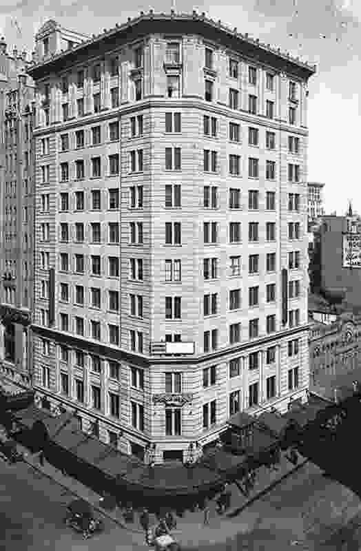 The original Palazzo-style Gowings building by department store architect Crawford H Mackellar.