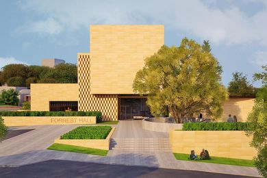 The proposed Forrest Hall at UWA designed by Kerry Hill Architects.
