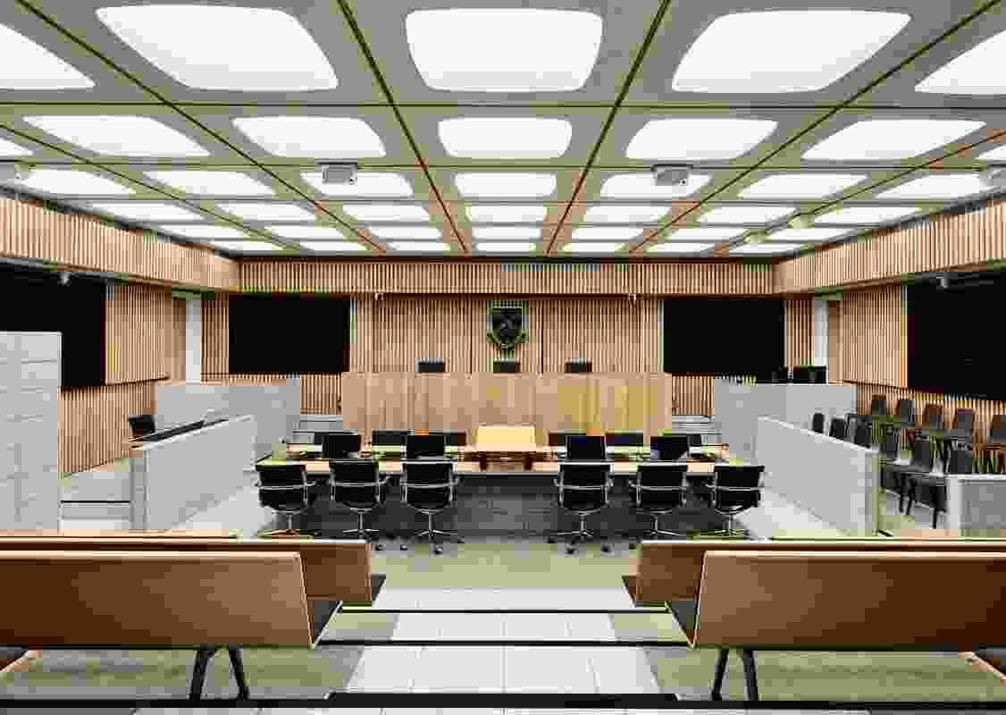 Moot Court Learning Precinct for the Monash Faculty of Law by Jackson Clements Burrows Architects.