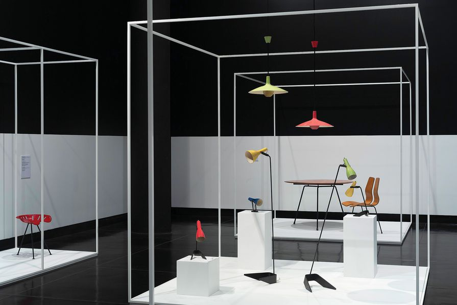 The plethora of iconic chairs, tables, light fittings and fabrics exhibited in the collection reflects Clement Meadmore's prolific career.